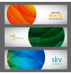 Set 3 abstract pictures of bright color vector