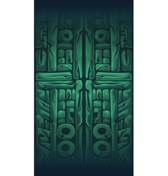 Jungle shamans mobile gui background vector