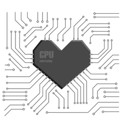 heart cpu vector image