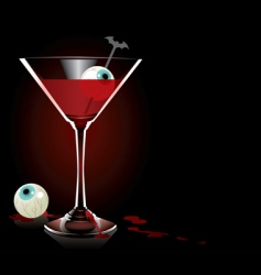 vampire cocktail vector image