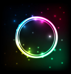 Abstract background with colorful circles plasma vector