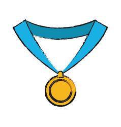 Award medal icon vector