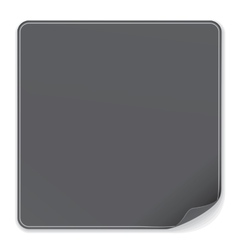 Blank Black Sticker vector image vector image