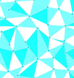 Blue triangle pattern vector image vector image