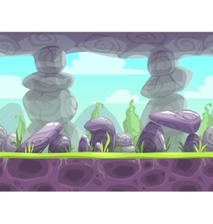 Cartoon fantasy seamless landscape vector