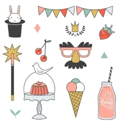 Children party icon - cute vector image