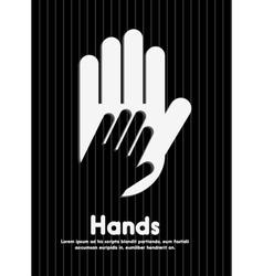 collaborative hands design vector image