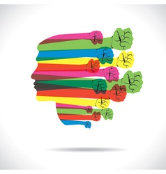 Colorful hand cover men face vector
