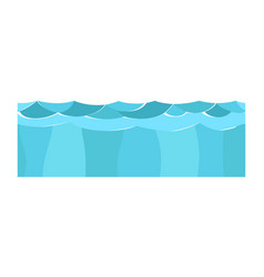 cross section blue water slice isolated some piece vector image