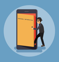 Cyber security and crime concept vector