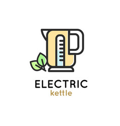 electric kettle modern simple icon vector image