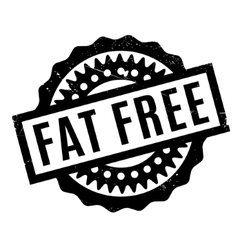 Fat free rubber stamp vector
