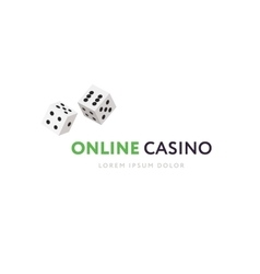Game club or online casino logo template vector image