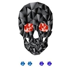 Geometric skull vector