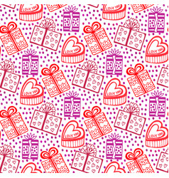 Gift seamless pattern seamless happy birthday new vector