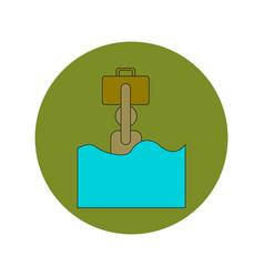 In flat design of refugee in vector