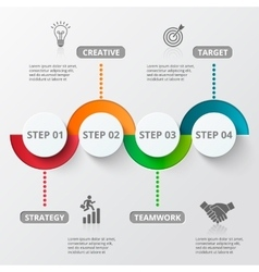 Infographic design template and marketing icons vector