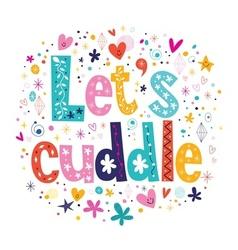 Lets cuddle vector
