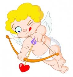 little cupid vector image