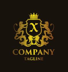luxury letter x logo vector image vector image