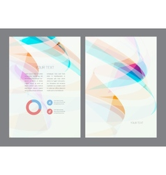 Magazine flyer brochure and cover layout design vector image vector image