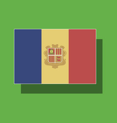 paper sticker on theme flag of andorra vector image