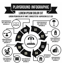 Playground infographic elements simple style vector