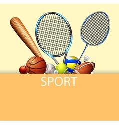 Poster design with sport equipments vector