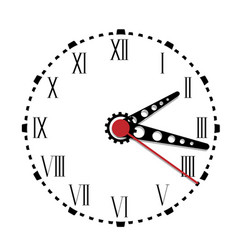 simple black and white watch fourth edition vector image vector image