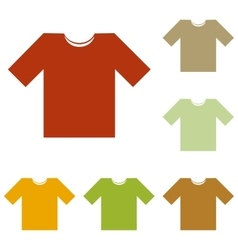 T-shirt sign vector image vector image