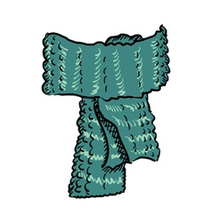 Wool scarf vector