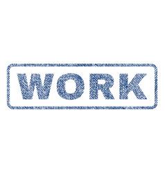 Work textile stamp vector