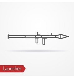 Launcher line icon vector