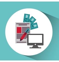 Computer network desktop payment vector
