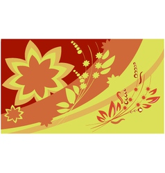 Warm floral theme vector