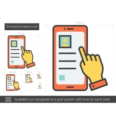 Smartphone layout line icon vector