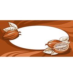 Brown cocoa bean still life abstract vector