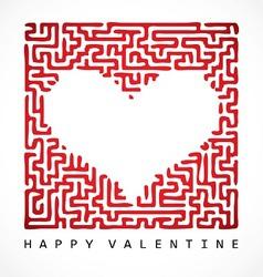 Heart maze vector image