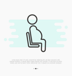Public sign of priority seat pregnant woman vector