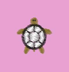 Flat icon design collection sea turtle vector