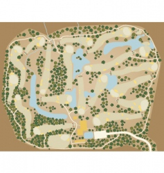 Golf course map vector
