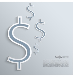 Abstract background with a dollar sign vector image