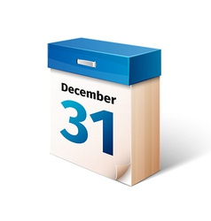 Blue 3d calendar icon isolated on white vector