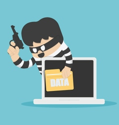 Thieves stole computer data vector