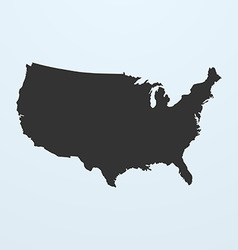 Silhouette of usa map united states of america map vector