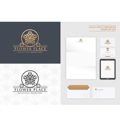 Premium logo and corporate template vector
