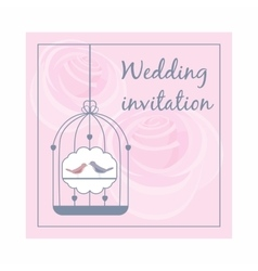 Wedding invitation icon cartoon style vector