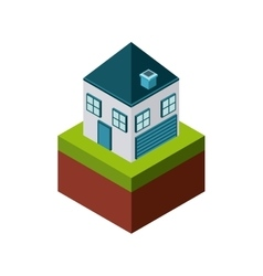 House icon isometric design graphic vector