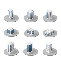 3d isometric city vector