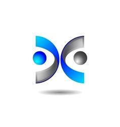 Abstract intersection logo vector